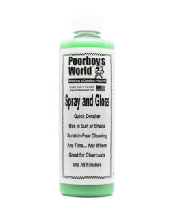 Poorboys Spray and Gloss